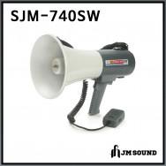 SJM-740SW/메가폰/확성기/마이크/사이렌/호루라기/최대출력 35와트