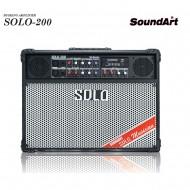 SOLO-200/SOUNDART/충전식휴대용/리버브/팬텀/블루투스/버스킹/라이브/공연/행사/USB/전기전용/200와트