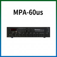 MPA-60US/USB/SD Card/라디오/마이크1,2,3/마이크1뮤트기능/AUX1,2/라인출력/챠임/3회로셀렉터/AC,DC24V겸용/60와트
