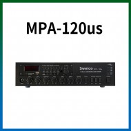 MPA-120US/USB/SD Card/라디오/마이크1,2,3/마이크1뮤트기능/AUX1,2/라인출력/챠임/3회로셀렉터/AC,DC24V겸용/120와트