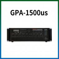 GPA-1500US/USB/SD Card/라디오/마이크1,2,3,4,/마이크1뮤트기능/AUX1,2/라인출력/챠임,싸이렌/펜텀파워/5회로셀렉터/AC,DC24V겸용/150와트