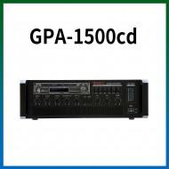 GPA-1500CD/CD/USB/SD Card/라디오/카셋트/마이크1,2,3,4,/마이크1뮤트기능/AUX1,2/라인출력/챠임,싸이렌/펜텀파워/5회로셀렉터/AC,DC24V겸용/150와트